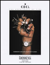 Harrison Ford's hand clutching nails 1-page clipping 1999 for Ebel Chronograph