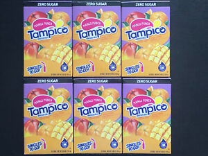 TAMPICO MANGO PUNCH (Lot Of 6) Singles to go Drink Mix Water Flavor Enhancer