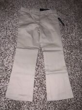Girls Nautica $36 Khaki Skinny Boot Cut Adj. Waist Uniform Pants Sz 5 Girls