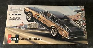 RARE Vintage 1967 Aurora Hurst Hemi Under Glass Barracuda 1/32 Model Kit,680-100