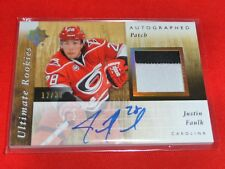 11-12 UD Ultimate Rookie Justin Faulk Auto Patch 12/35 2CLR Rare RC