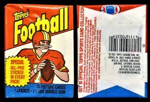 1983 Topps Football Unopened Wax Pack - Possible Marcus Allen Rookie - NEAR MINT