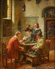 A Cozy Evening by Fritz Wagner - Men Drink Ale Wine Talk Smoke 8x10 Print 0768