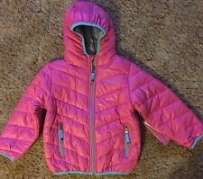 Rugged Bear Coat Toddler Girl Size 4T Pink Trim Lt Blue Light Weight Spring NWT