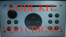 CODE KIT FOR VDO CDR2005, UNLOCK DECODE, PLEASE READ DESCRIPTION