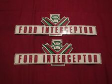 1957 FORD POLICE INTERCEPTOR VALVE COVER DECALS PAIR