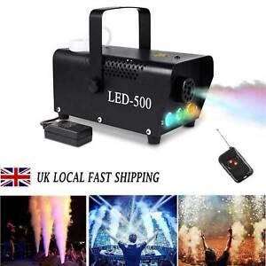 RGB LED Fog Machine Smoke Machine 500W Wireless Remote Control DJ Disco Party UK