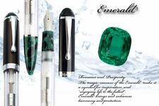 WANCHER CRYSTAL Double Compact Transparent Green M Nib Japanese Fountain Pen