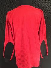 VTG Adidas Red Goalie Jersey Paddled Elbows Trefoil Logo Red Sz XL Soccer