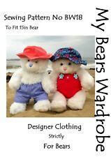 Sewing Pattern Bear Clothes Beachwear by My Bears Wardrobe fits build a bear