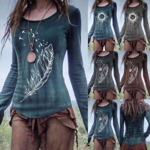Medieval Renaissance Vintage Women's Long Sleeve T-Shirts Tops Halloween Costume