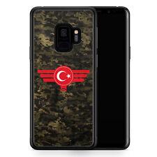 Samsung Galaxy S9 Hülle SILIKON Cover - Türkiye Türkei Camouflage - Motiv Desig
