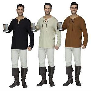 Mens Renaissance Peasant Pirate Shirt Adult