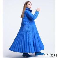 Womens Winter Duck Down Jackets Flared Skirt Dress Coats Loose Oversize Outwears