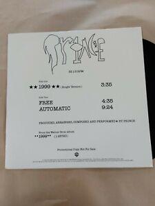"""Prince - 1999 - 12"""" Vinyl Single - Promotional Copy"""