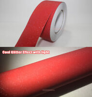 Red Car House Glitter Flicker Twinkle Sparkle Vinyl Wrap Tape Decal Sticker AB