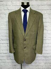 Savile Row Mens Brown Houndstooth Silk & Wool Blazer Sport Coat 42R