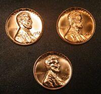 1965 1966 1967 SMS Lincoln Memorial Cent Run 3 Choice Special Mint Set US.