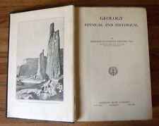 ANTIQUE 1916 BOOK - GEOLOGY PHYSICAL & HISTORICAL by CLELAND -  WELL ILLUSTRATED