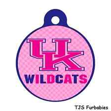 Kentucky Wild Cats Team Pink-Personalized Pet Id Tag for Dog & Cat Collars