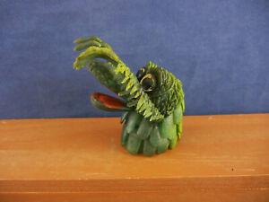 Vintage 60's Jiggling MONSTER Rubber FINGER PUPPET ~ Green