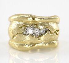 Seidengang Odyssey Solid 18k 750 Yellow Gold Platinum Diamond Size 6 Ring