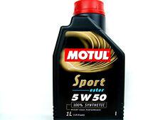 1 Litro MOTUL Sport 5w-50 ACEITE DE MOTOR ESTER Core 5w50 totalmente sintético