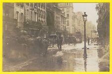 cpa Rare Carte Photo CAEN (Calvados) INONDATION Rue Saint Jean Journal Le MATIN