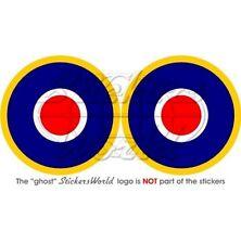"RAF Royal AirForce Type C1 Roundel 75mm (3"") Sticker x2"