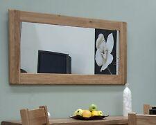 Warwick solid oak hallway living room furniture large wall mirror