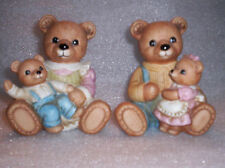 Mom And Pop Bear With Cubs Family Figurines #1444 Homco