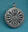 Buddhist Pendant Aum, Om, Ohm, Double Dorje Buddhist and Hindu Nepalese Jewelry