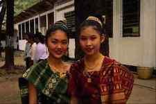 464098 Two Beautiful Girls Vientiane Laos A4 Photo Print