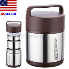 Stainless Steel Vacuum Insulated Lunch Box Jar Thermos Cold Hot Food Container