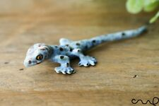 More details for blue ceramic lizard animal figurine pottery ornament collectable gift gecko deco