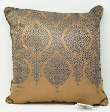 """Croscill Monroe Bedding Collection Fashion Embroidered 16"""" Pillow - Gold, Blue"""