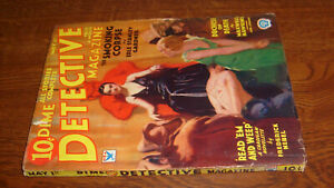 vintage DIME DETECTIVE PULP, MAY 1st 1934