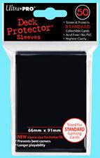 50 Ultra Pro DECK PROTECTORS Black Card Sleeves Standard Size Pokemon ccg magic