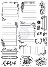 Prima Marketing Inc: Love, Faith, Scrap Planner Collection: Cling Stamp Journal