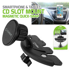 Magnetic CD Slot Smart Phone Holder Mount for Apple, Samsung, Google, LG & More