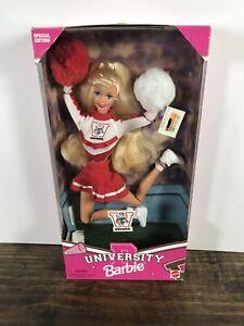 Mattel University Barbie Wisconsin Badgers New In Unopened Box 1996