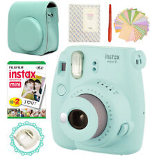 Fujifilm Instax Mini 9 Camera Ice Blue + 20 Instant Films Bag/Album/Pen/Sticker