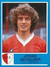 198 JOHAN DEVOLDER BELGIQUE KV.KORTRIJK STICKER FOOTBALL 87 PANINI