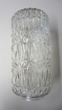 Vintage Clear Glass Cylinder Replacement Globe, 12 in. Long w/ 3 3/4 in. Fitter