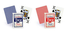 More details for 12 decks of bicycle bee standard index poker casino playing cards 6 red & 6 blue