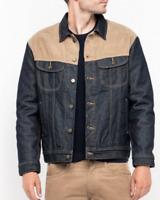 Mens Lee Rider denim jacket with contrast cord 'Fresh Indigo Rinse' SECONDS L203