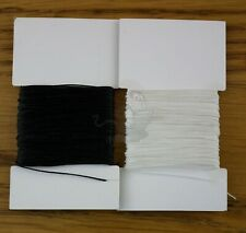 SUPER STRONG BONDED NYLON 20 TKT SEWING THREAD  LEATHER CRAFT REPAIR BLACK WHITE