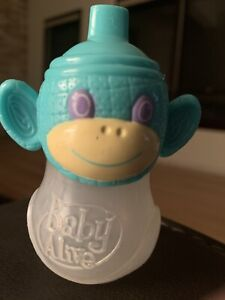 AUTHENTIC BABY ALIVE Doll SIPPY CUP BOTTLE REMOVEABLE MONKEY LID