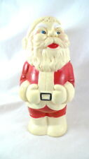 """Vintage Santa Claus Squeeze Toy Figure Squeaker 8"""" Tall"""