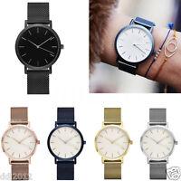 New Brand Women Men Analog Quartz Watches Stainless Steel Wristwatch
